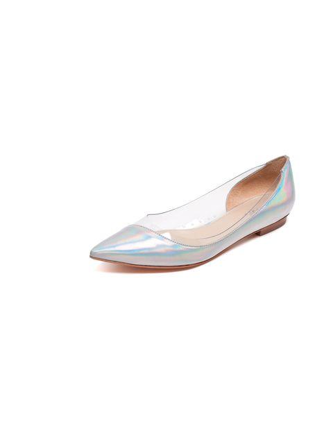 "<p>Maje perspex slipper, £209, <a href=""http://eboutique.maje.com/accueil"">Maje </a></p>"