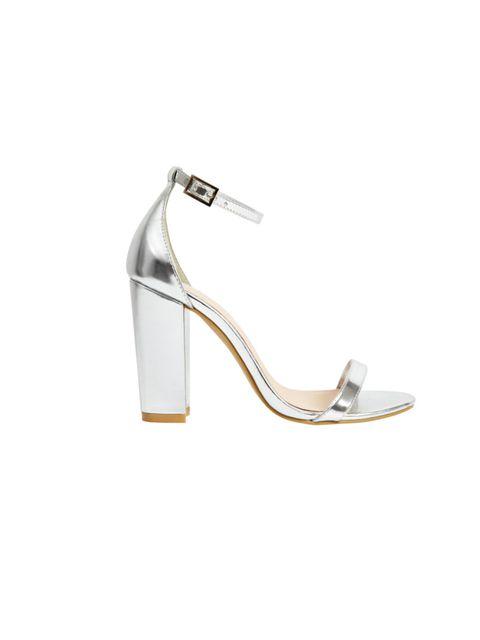 """<p><a href=""""http://www.asos.com/Women/"""">ASOS</a> silver metallc sandals, £40</p>"""