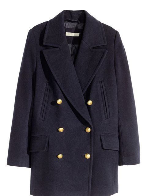 "<p>A classic pea-coat never dates. In a neutral colour, you can combine it with different scarves to alternate your look.</p>  <p><a href=""http://www.hm.com/gb/product/32011?article=32011-B"" target=""_blank"">H&M</a> coat, £49.99</p>"