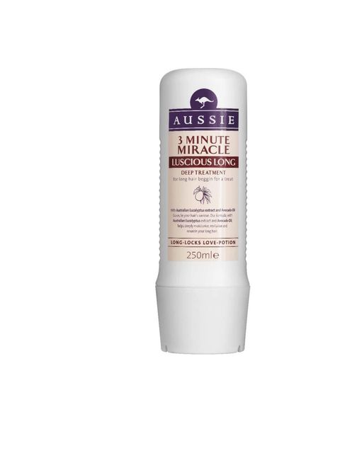 "<p><a href=""http://www.boots.com/en/Aussie-3-Minute-Miracle-Luscious-Long-250ml_38758/"">Aussie</a> 3 Minute Miracle Luscious Long, £4.99</p>"