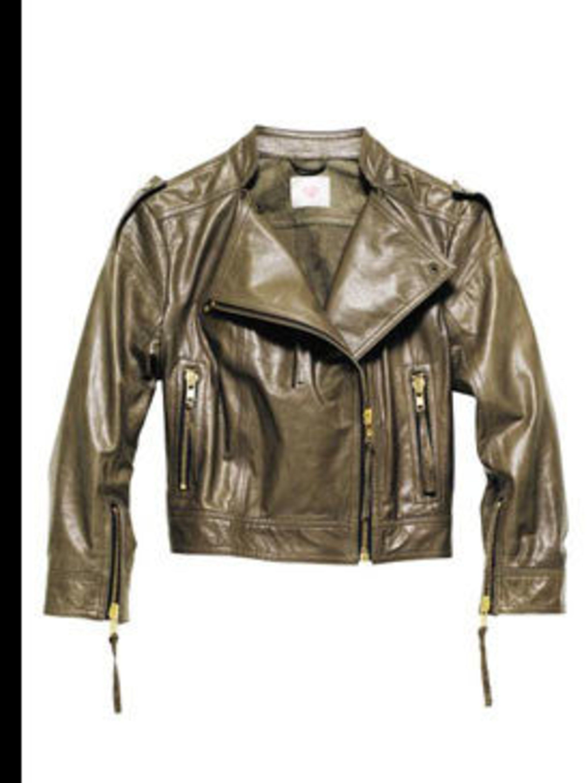 "<p>Biker jacket, £149.99 by Matthew Williamson at <a href=""http://www.hm.com/gb/"">H&M</a></p>"