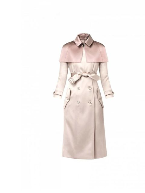 """<p>If Kate Middleton were a coat, she'd probably be this coat - British and beautiful.</p><p><a href=""""http://uk.burberry.com/store/?WT.srch=1&kid=24840b65-2b8e-2f09-7acb-0000149f5c1a"""">Burberry</a> satin trench coat, £1595</p>"""
