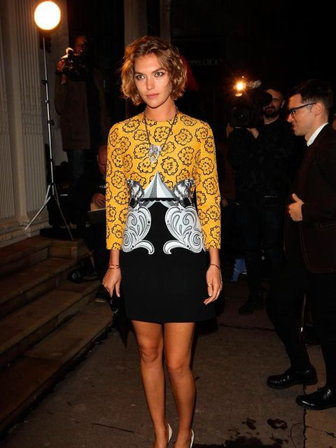 Arizona Muse attends the Victoria Beckham dinner at the end of London Fashion Week s/s16  in London, September 2015.
