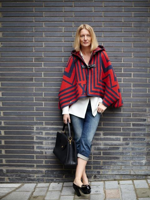 "<p>Rebecca Lowthorpe, Assistant Editor</p><p>Classic Poplin Shirt / 100% Cotton / £820</p><p>Cropped jeans, Price on request</p><p>Capucines MM Bag?, £3,000</p><p>Duffle Cap?, £1,980</p><p>Court shoes</p><p><a href=""http://www.elleuk.com/catwalk/designer-"