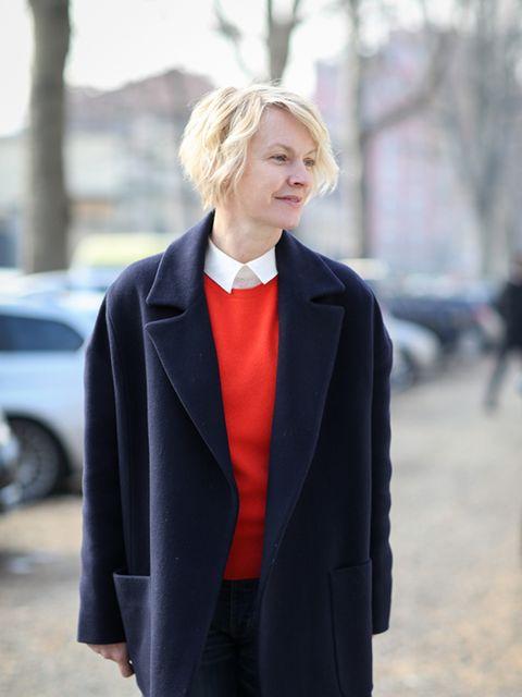 <p>Lorraine Candy – Editor-In-Chief</p>  <p>Raey coat, M&S jumper and Roksanda trousers.</p>