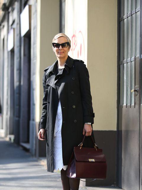 <p>Anne-Marie Curtis – Fashion Director</p>  <p>Saint Laurent coat, Simone Rocha skirt, Prada shoes, Balenciaga bag and Miu Miu sunglasses.</p>