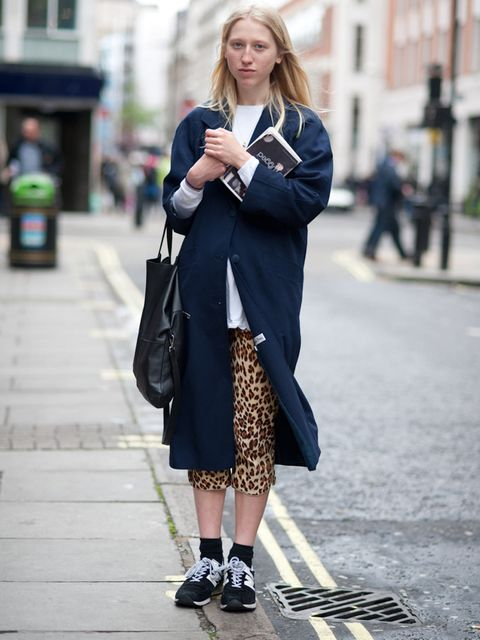 <p>Alice Goddard, 20, Freelance Stylist. Coat from Sherpherd's Bush Market, H&amp&#x3B;M top, vintage trousers, Cos bag, New Balance trainers.</p><p>Photo by Stephanie Sian Smith</p>