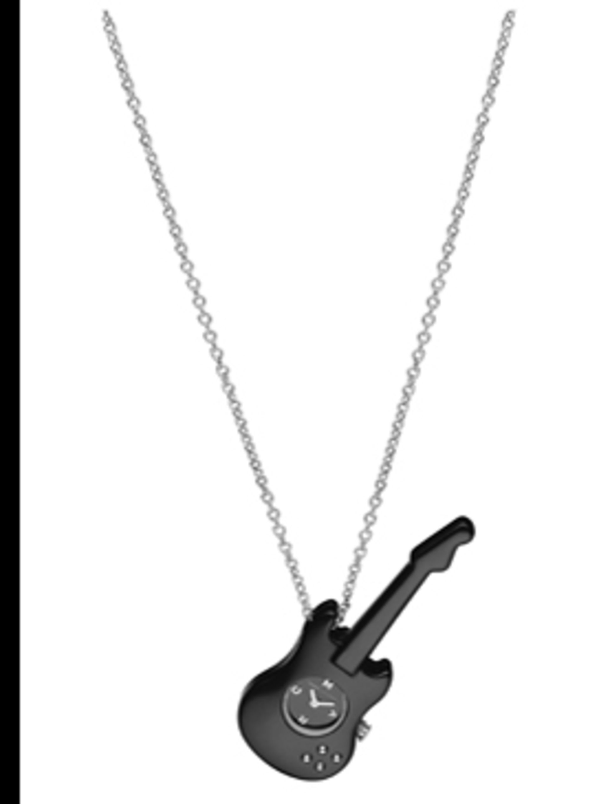 <p>Guitar pendant watch, £100, from Marc by Marc Jacobs at Fossil, for stockists call (0870 224 6633)</p>