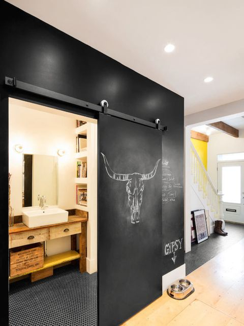 "<p>For a cooler, younger design, how about a chalkboard wall? -<a href=""http://design-milk.com/historical-row-house-gets-whimsical-industrial-renovation/grand-truck-revival-row-house-markvivi-8/"" target=""_blank"">Design-Milk</a></p>"