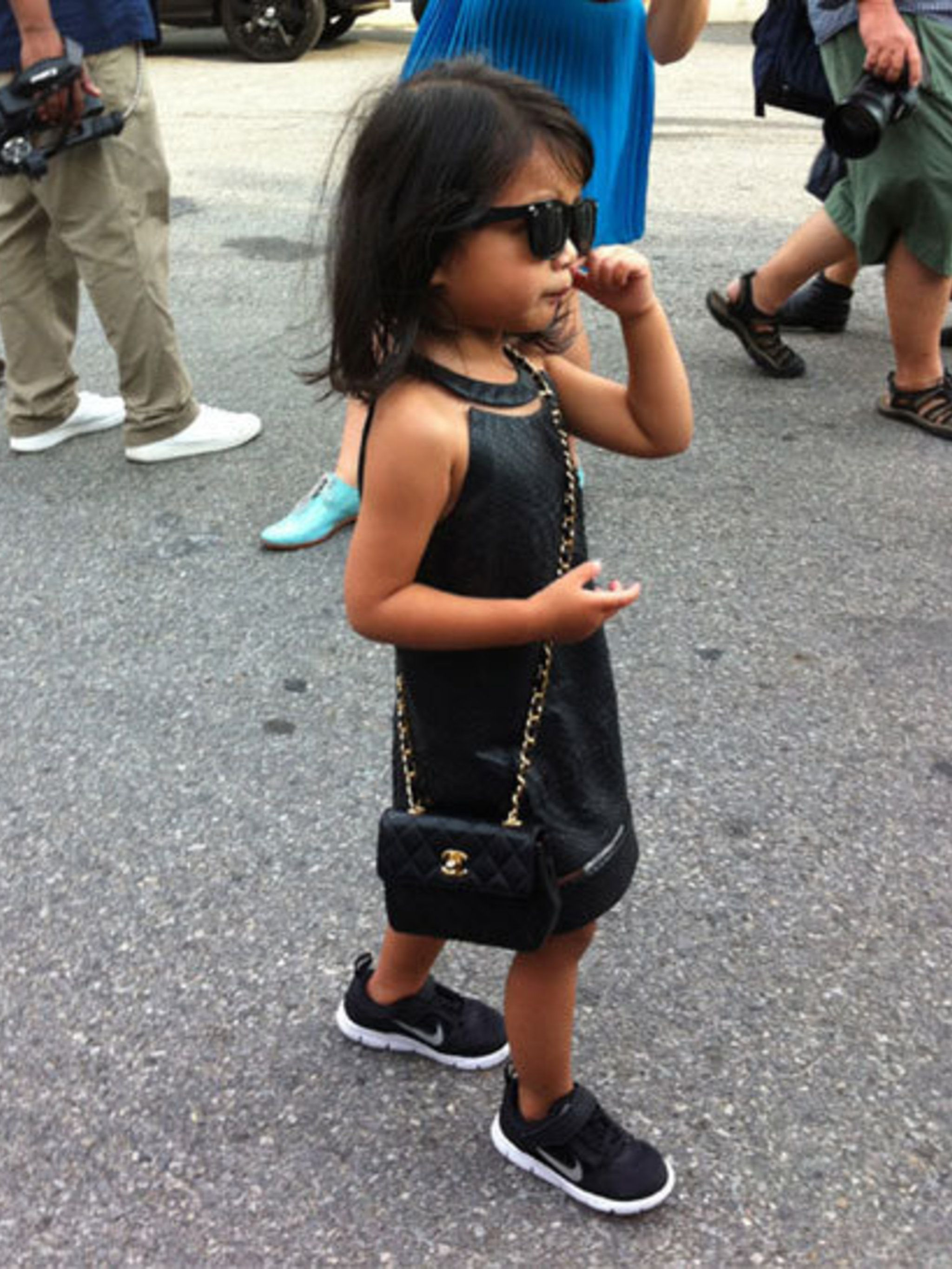 <p>Alexander Wang's niece Aila Wang wore a custom dress by her designer uncle</p>