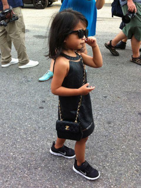 <p>Alexander Wang's niece Aila Wang wore a custom dress by her designer uncle</p>