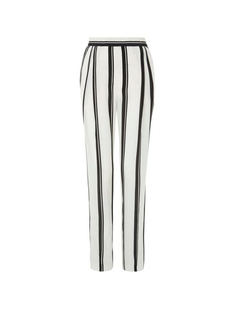 """<p>NUMBER 2</p><p>Just because the sun's out it doesn't mean it's ok to dress like a beach-bum. Loose silk trousers (striped ones, natch) will keep you cool, chic and in your boss's good-books. </p><p><a href=""""http://www.hobbs.co.uk/product/display?produc"""