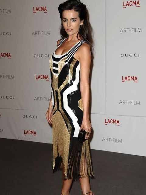 """<p><a href=""""http://www.elleuk.com/starstyle/style-files/(section)/camilla-belle"""">Camilla Belle</a> wearing a flapper-esqe dress &amp&#x3B; sandals from the <a href=""""http://www.elleuk.com/catwalk/collections/gucci/"""">Gucci spring/summer 2012</a> collection at th"""