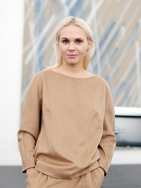 Victoria Latysheva wears Max Mara top and trousers.