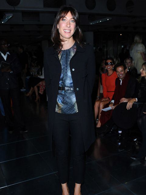 "<p>Samantha Cameron at London Fashion Week Spring/Summer 2012 the Christopher Kane show is wearing a <a href=""http://origin.elleuk.com/catwalk/collections/peter-pilotto/"">Peter Pilotto</a> blouse, September 2011.</p>"