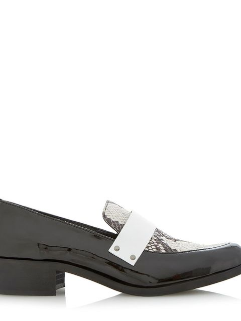 """<p><a href=""""http://www.dunelondon.com/lannister-leather-pointed-toe-penny-loafer-0430500720001138/"""" target=""""_blank"""">Dune</a> loafers, £85</p>"""