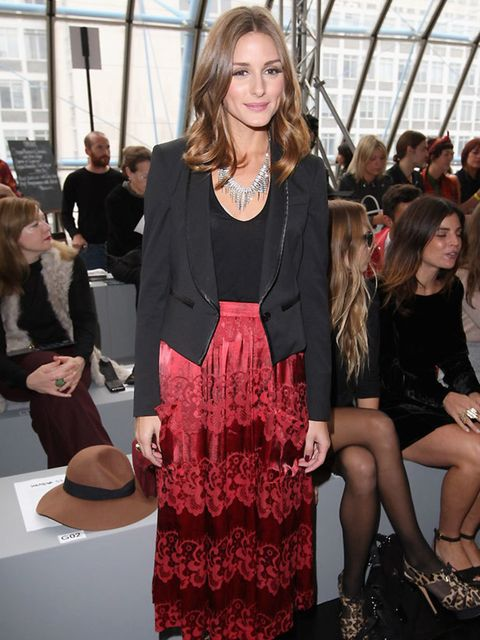 "<p><a href=""http://www.elleuk.com/starstyle/style-files/(section)/olivia-palermo"">Olivia Palermo</a> front row at the <a href=""http://www.elleuk.com/catwalk/collections/unique/"">Topshop Unique SS12 show</a> in London</p>"