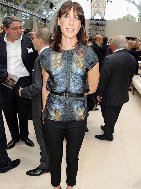 "<p><a href=""http://www.elleuk.com/content/search?SearchText=samantha+cameron&SearchButton=Search"">Samantha Cameron</a> wearing a <a href=""http://www.elleuk.com/catwalk/collections/peter-pilotto/"">Peter Pilotto</a> top at the <a href=""http://www.elleuk"