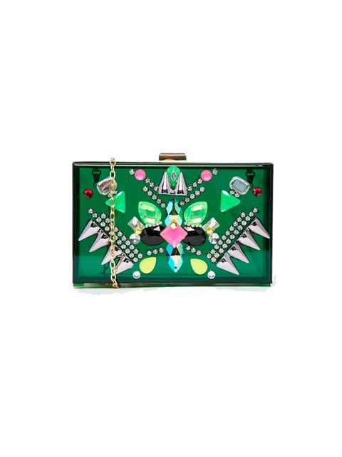 "<p>25% TREND-LED PIECES – the wow bits that give your outfit instant oompf.</p>  <p><a href=""http://www.asos.com/Skinny-Dip/Skinnydip-Green-Perspex-box-clutch-Bag/Prod/pgeproduct.aspx?iid=4468843&CTARef=Recently%20Viewed"" target=""_blank"">Skinnydip</a> clu"