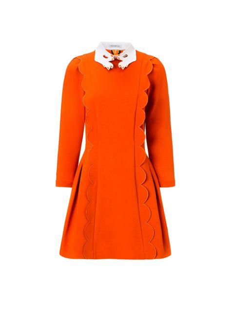 "<p>Vivetta dress, £285, from <a href=""http://www.avenue32.com/orange-scalloped-martedi-dress-63701/"" target=""_blank"">avenue32.com</a><br /> </p>"