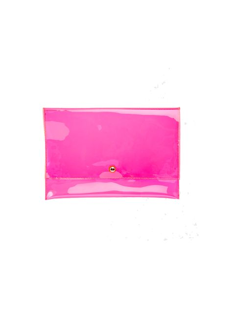 "<p><a href=""http://www.asos.com/ASOS/ASOS-Pop-Plastic-Clutch-bag/Prod/pgeproduct.aspx?iid=4308961&WT.ac=rec_viewed&CTAref=Recently+Viewed"" target=""_blank"">Asos </a>clutch bag, £15</p>"