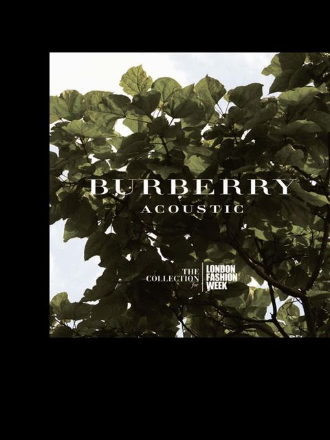 <p><strong>Who?</strong> Burberry Acoustic, an edit of mod-driven melodies from Christopher Bailey &amp&#x3B; co. that is as satisfactory to the ears as the Burberry trench is to the body</p><p><strong>Where?</strong> twitter.com/Burberry/burberry-acoustic</p>