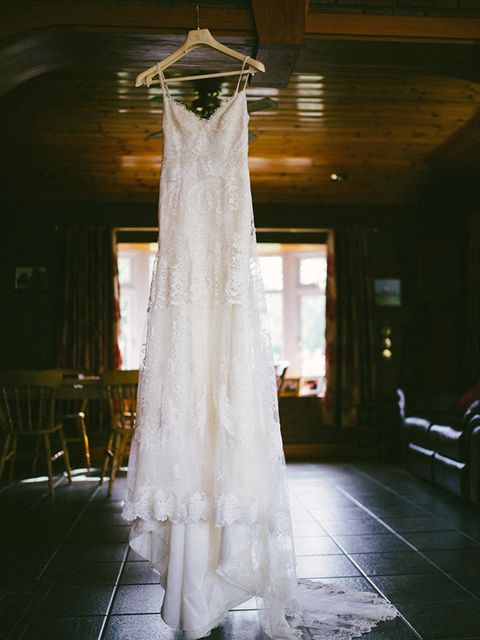 "<p>My wedding dress was by Spanish sisters <a href=""http://www.yolancris.com/"" target=""_blank"">YolanCris</a>, who create beautiful handcrafted dresses in Barcelona. </p>"