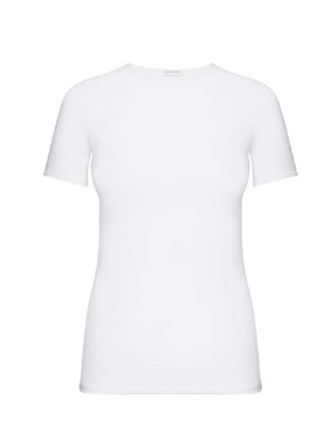 "<p>Pair the skirt with a simple white Tee like this from <a href=""http://uk.intimissimi.com/product/micromodal-crew-neck-t-shirt/156244.uts"" target=""_blank"">Intimissimi</a>, &pound;17</p>"