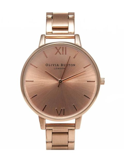 """<p>If you saw Executive Fashion Director Kirsty Dale's jam-packed schedule, you'd know why a good watch is so essential.</p><p></p><p><a href=""""http://www.oliviaburton.com/shop/big-dial/big-dial-bracelet-rose-gold/"""" target=""""_blank"""">Olivia Burton</a> w"""