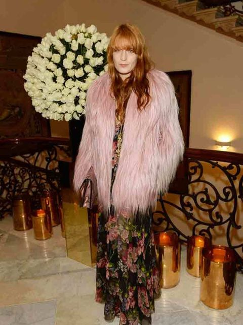 Florence Welch attends private reception hosted by Gucci and Frieze Masters in London, October 2014.