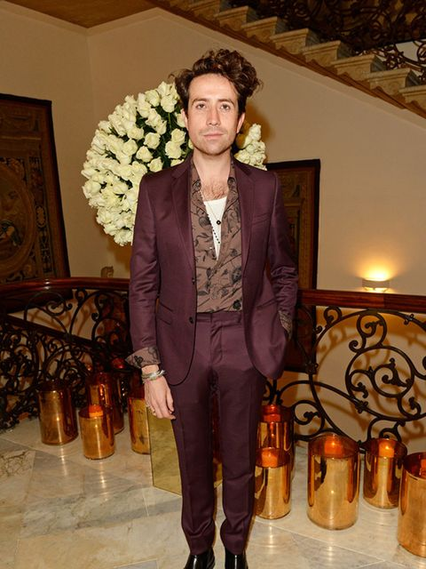 Nick Grimshaw attends private reception hosted by Gucci and Frieze Masters in London, October 2014.