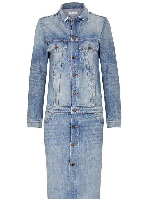 <p>We love this denim coat. It's a really cool interpretation of a classic denim jacket and is prefect outerwear piece for a dressed down look this winter.</p>  <p>Denim Coat, £555 by 6397</p>