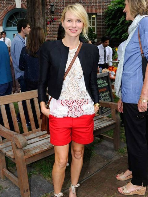 "<p><a href=""http://www.elleuk.com/content/search?SearchText=Naomi+Watts&amp&#x3B;SearchButton=Search"">Naomi Watts</a> pairing a pair of bright red shorts with a lace top at the <a href=""http://www.elleuk.com/catwalk/collections/stella-mccartney"">Stella McCartn"