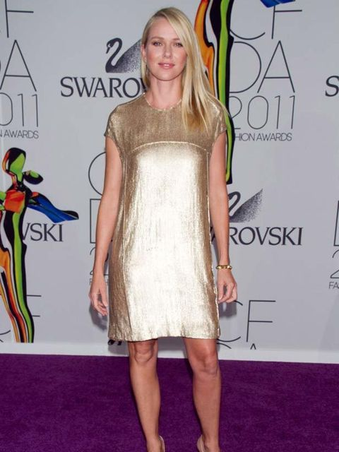 """<p><a href=""""http://www.elleuk.com/content/search?SearchText=Naomi+Watts&SearchButton=Search"""">Naomi Watts</a> wearing a metallic <a href=""""http://www.elleuk.com/catwalk/collections/calvin-klein-collection/autumn-winter-2011"""">Calvin Klein</a> dress at th"""