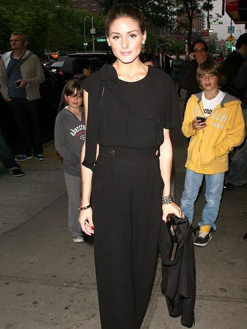 """<p><a href=""""http://www.elleuk.com/starstyle/style-files/(section)/olivia-palermo"""">Olivia Palermo</a> looking typically stylish wearing a Whistles jumpsuit as she attends a film screening in New York, May 2011</p>"""