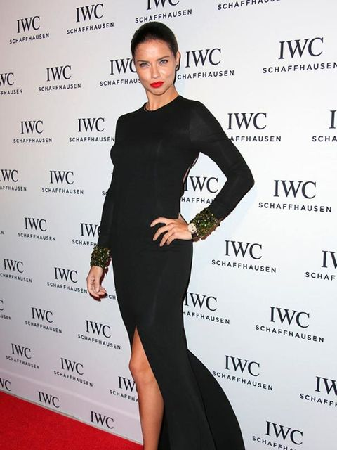 <p>Adriana Lima at the IWC Watch Collection launch, Miami December 2014.</p>