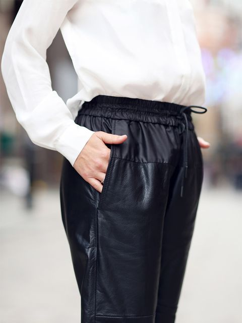 <p>Kirsty Dale – Executive Fashion and Beauty Director</p><p>Alexander Wang x H&M leather trousers, £179.99</p>