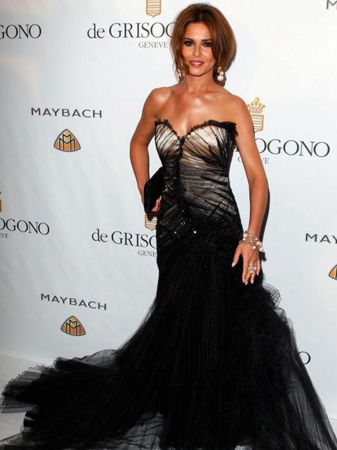 <p>Cheryl Cole wearing a stunning Roberto Cavalli gown </p>