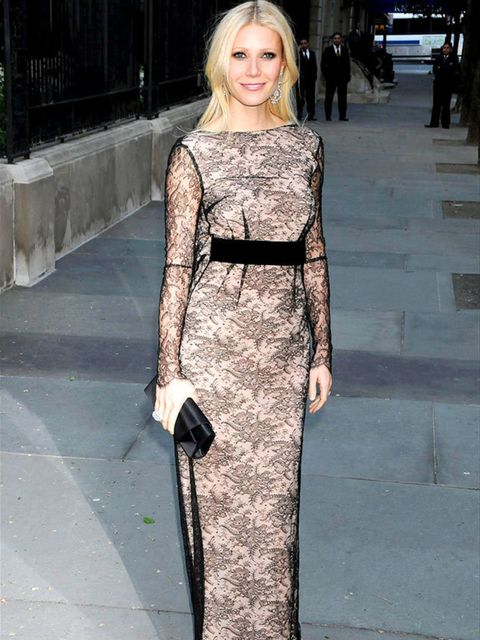 <p>Gwyneth Paltrow wearing a stunning Antonio Berardi gown </p>