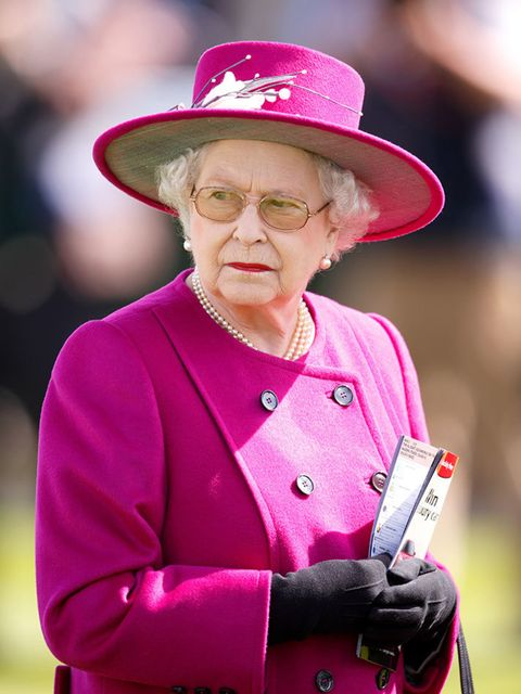 Queen Elizabeth II during a visit to the Newbury Races