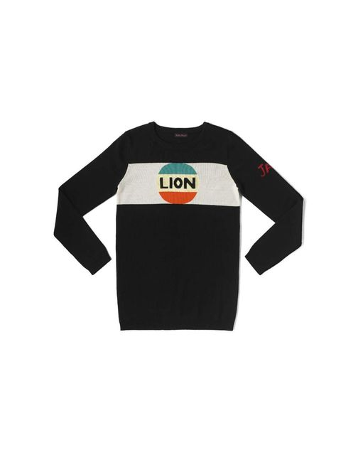 "<p>The undisputed queen of cult cool logo knits. Bella Freud, £220, <a href=""http://www.bellafreud.co.uk/shop/collections/aw13/lion-stripe/"">bellafreud.co.uk</a></p>"