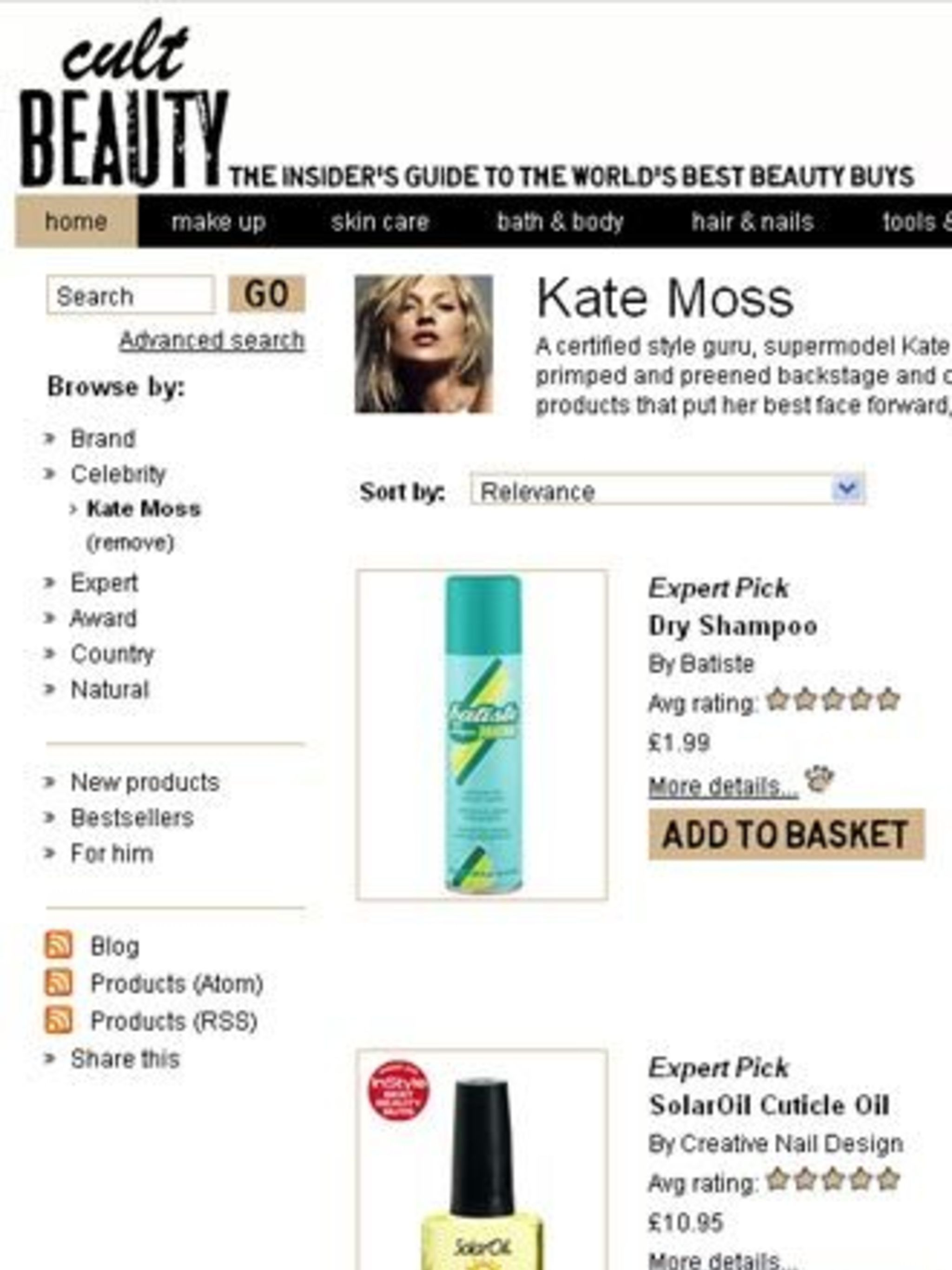 "<p>Like most websites Cult Beauty sorts their wares into easily searchable categories and their brand list is pretty impressive including <a href=""http://www.elleuk.com/find/%28term%29/essie"">Essie</a>, Becca and <a href=""http://www.elleuk.com/find/%28ter"