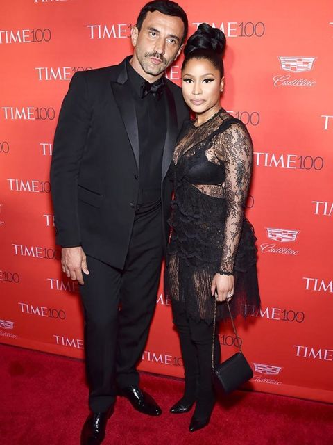 Riccardo Tisci and Nicki Minaj attend the 2016 Time 100 Most Influential People In The World Gala in New York, April 2016.