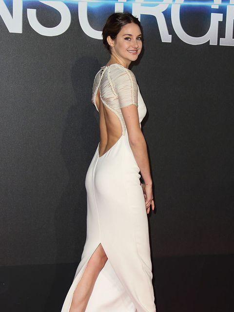 Shailene Woodley wearing Ralph Lauren to the world premiere of 'Insurgent' in London, March 2015.