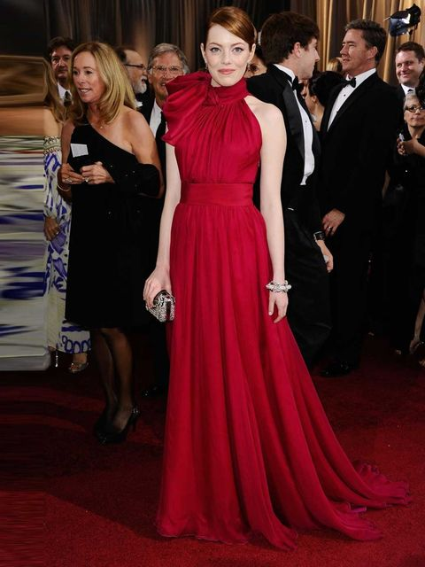 "<p><a href=""http://www.elleuk.com/star-style/celebrity-style-files/emma-stone"">Emma Stone</a> wearing a <a href=""http://www.elleuk.com/catwalk/designer-a-z/giambattista-valli/couture-ss-2012"">Giambattista Valli Couture Spring 2012</a> gown with a <a href="