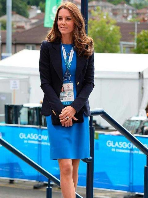 <p>Kate Middleton wears Stella McCartney at Hampden Park where she watched the athletics at the Commonwealth Games in Glasgow, August 2014.</p>