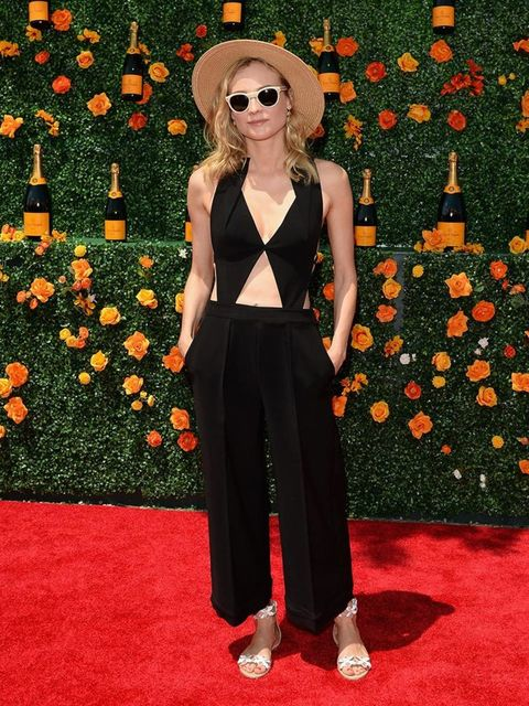 Diane Kruger attends the Veuve Clicquot Polo Classic at Liberty State Park, May 2015.