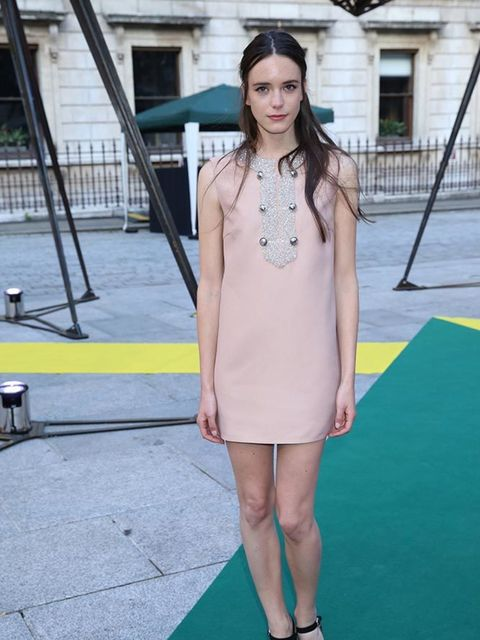 <p>Stacy Martin at the Royal Academy of Arts Summer Exhibition on June 3, 2015 </p>