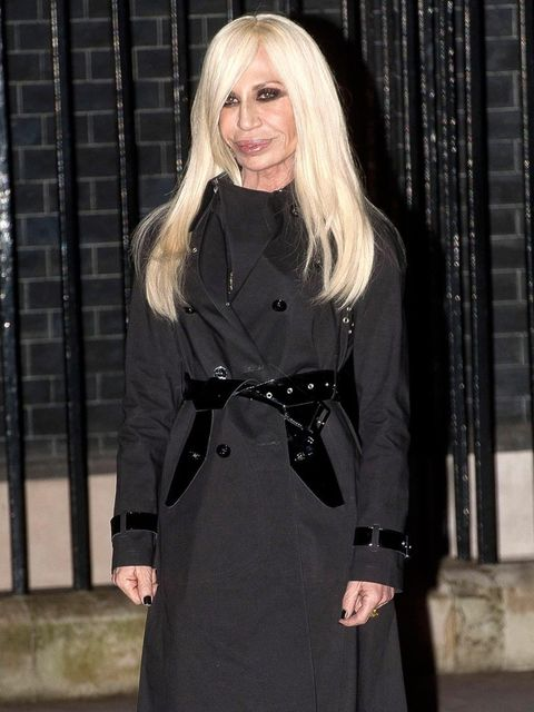 <p>Donatella Versace, 10 Downing St.</p>