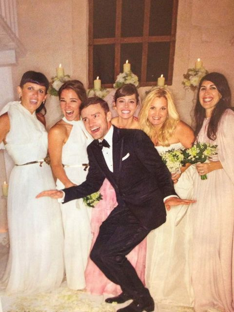 <p>Jessica Biel and Justin Timberlake on their wedding day</p>